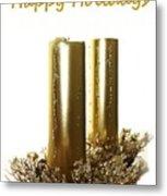 Golden Candles Metal Print