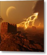 Golden Canyon Metal Print