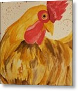 Golden Chicken Metal Print