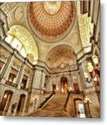 Golden City Hall Metal Print