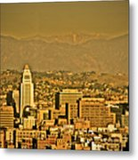 Golden City Hall La Metal Print