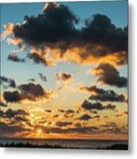 Golden Cloud Sunrise Delray Beach Florida Metal Print