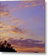 Golden Clouds At Sunset Metal Print