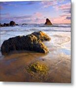 Golden Coast Metal Print