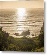 Golden Cove Metal Print