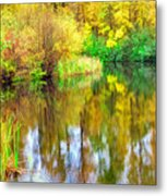 Golden Creek Metal Print
