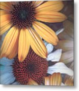 Golden Daisies Metal Print