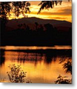 Golden Day At The Lake Metal Print