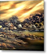 Golden Daze.sold Metal Print by Cynthia Adams