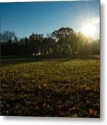 Golden Dew Autumn Sunrise Metal Print