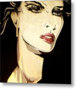 Golden Diva Metal Print