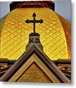 Golden Dome Notre Dame Metal Print
