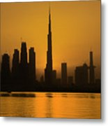 Golden Dubai Metal Print