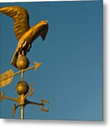 Golden Eagle Weather Vane Metal Print