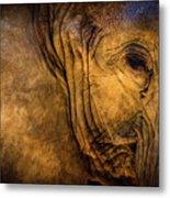 Golden Elephant Metal Print