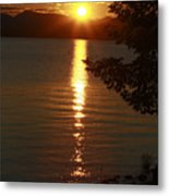 Golden Evening Sun Rays Metal Print