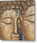 Golden Faces Of Buddha Metal Print