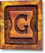 Golden G Metal Print