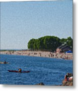 Golden Gardens In Seattle Washington Metal Print