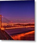Golden Gate At Dusk Metal Print