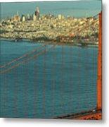 Golden Gate Bridge And San Francisco Skyline Metal Print