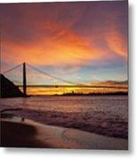Golden Gate Bridge At Dawn Metal Print