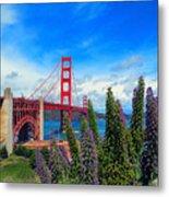 Golden Gate Bridge Five Metal Print