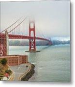 Golden Gate Bridge Fort Point Metal Print