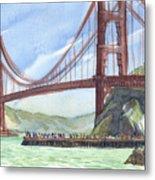 Golden Gate Bridge From Fort Baker, Ca Metal Print