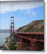 Golden Gate Bridge From The Scenic Lookout Point Metal Print