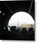 Golden Gate Bridge From Tunnel Metal Print