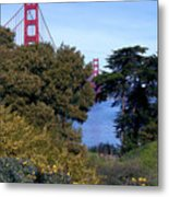 Golden Gate Bridge From Visitor Center Metal Print