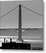 Golden Gate Bridge In Its Beauty At Sunset Metal Print