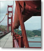 Golden Gate Bridge Low Point Of Cable Metal Print