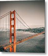 Golden Gate Bridge Selective Color Metal Print