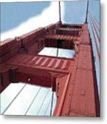 Golden Gate Bridge Tower Metal Print