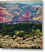 Golden Gate Bridge - Twin Peaks Metal Print