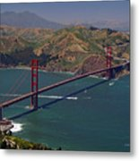 Golden Gate Metal Print by Donna Blackhall