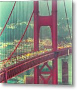Golden Gate Portrait Metal Print