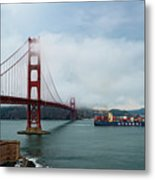 Golden Gate Ship Metal Print