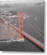 Golden Gate The Color Of The Bridge Metal Print