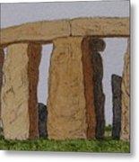 Golden Glow- Stonehenge Metal Print