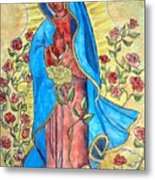 Golden Guadalupe Metal Print