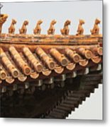 Golden Guardians Of The Forbidden City Metal Print