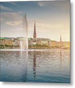 Golden Hamburg Metal Print
