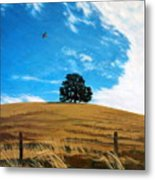 Golden Hills Summer Sky Metal Print