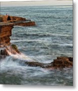 Golden Hour At Sunset Cliffs Metal Print