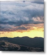 Golden Hour In Volterra Metal Print