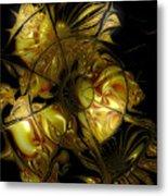 Golden Labyrinthine Metal Print