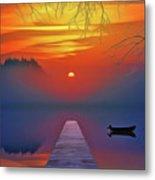 Golden Lake Metal Print